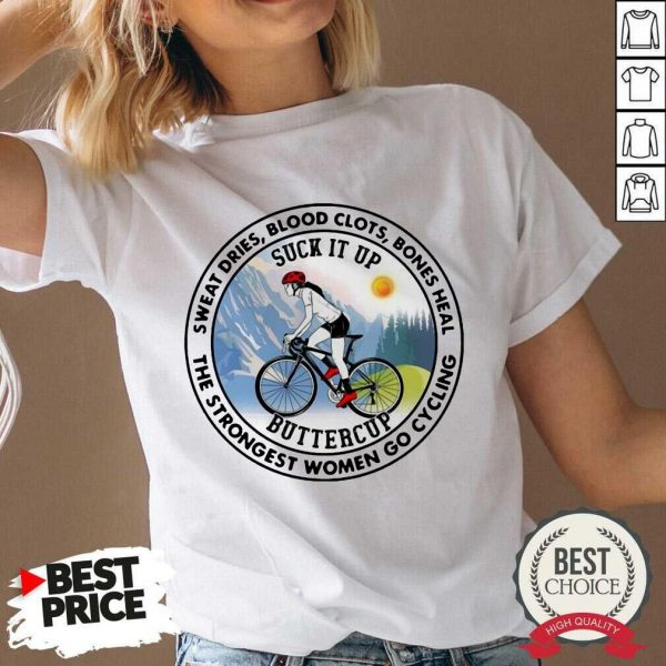 Good Strongest Women Go Cycling 45 V-neck
