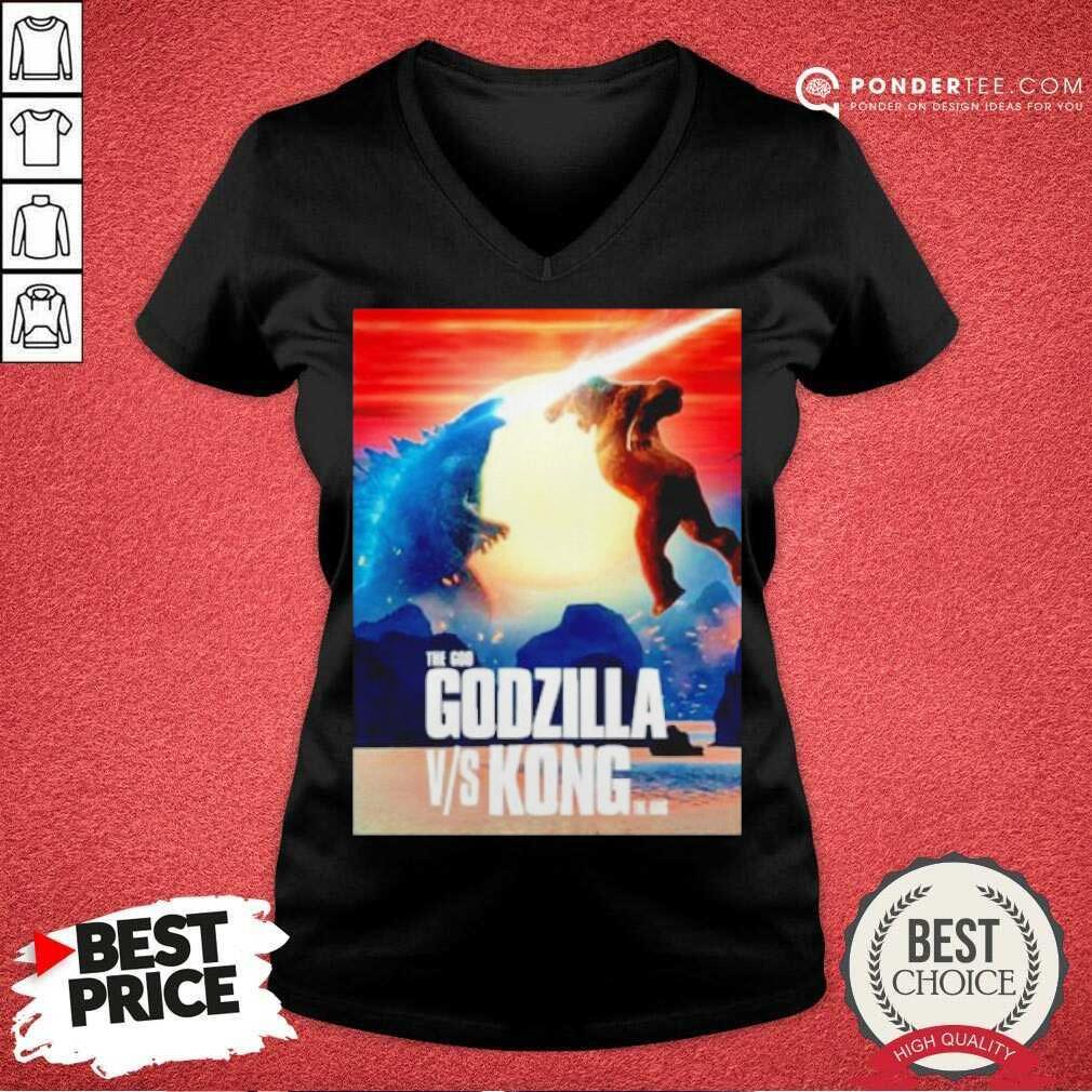 Happy The God Godzilla Vs Kong The King 2021 V-neck