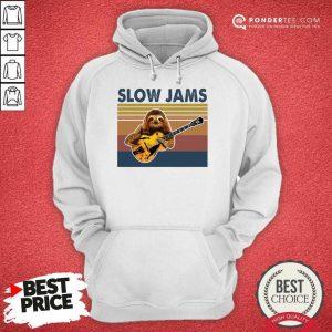 Hot Sloth Playing Guitar Slow Jams Vintage Hoodie