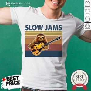 Hot Sloth Playing Guitar Slow Jams Vintage Shirt