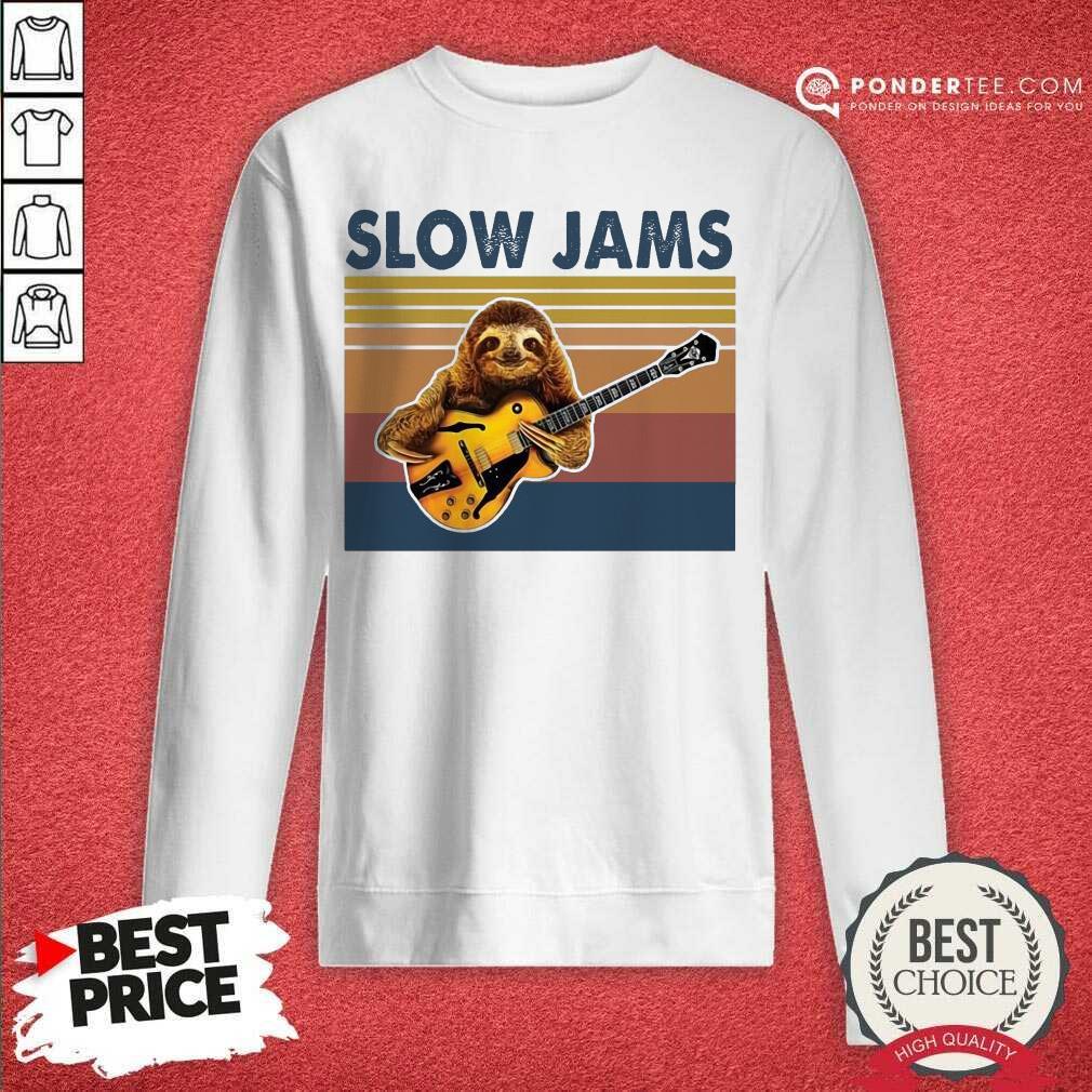 Hot Sloth Playing Guitar Slow Jams Vintage Sweatshirt