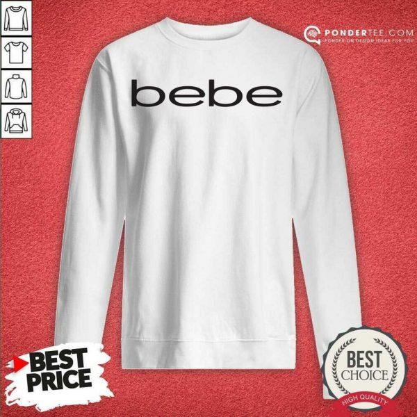 Nice Bebe Bebes Bebe Logo 55 02 Sweatshirt