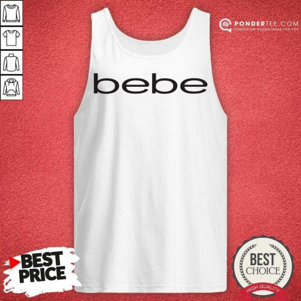 Nice Bebe Bebes Bebe Logo 55 02 Tank Top