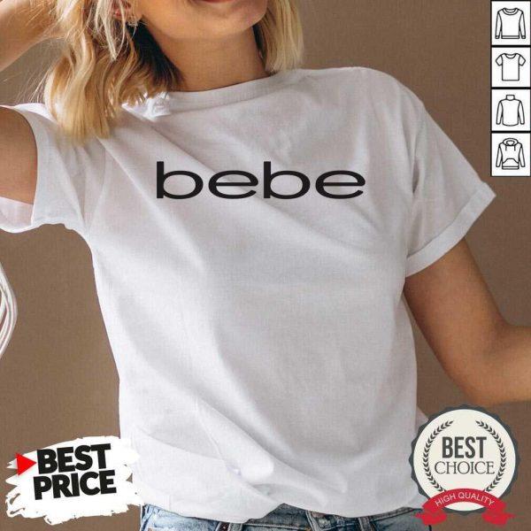 Nice Bebe Bebes Bebe Logo 55 02 V-neck