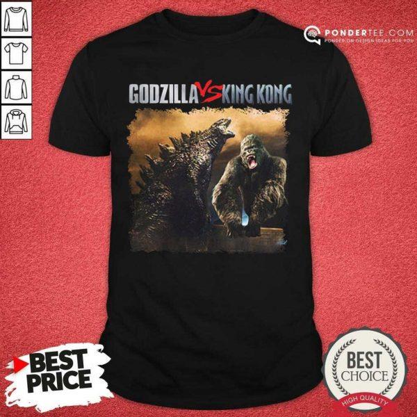 Nice Classic Godzilla Vs King Kong New Tee Shirt