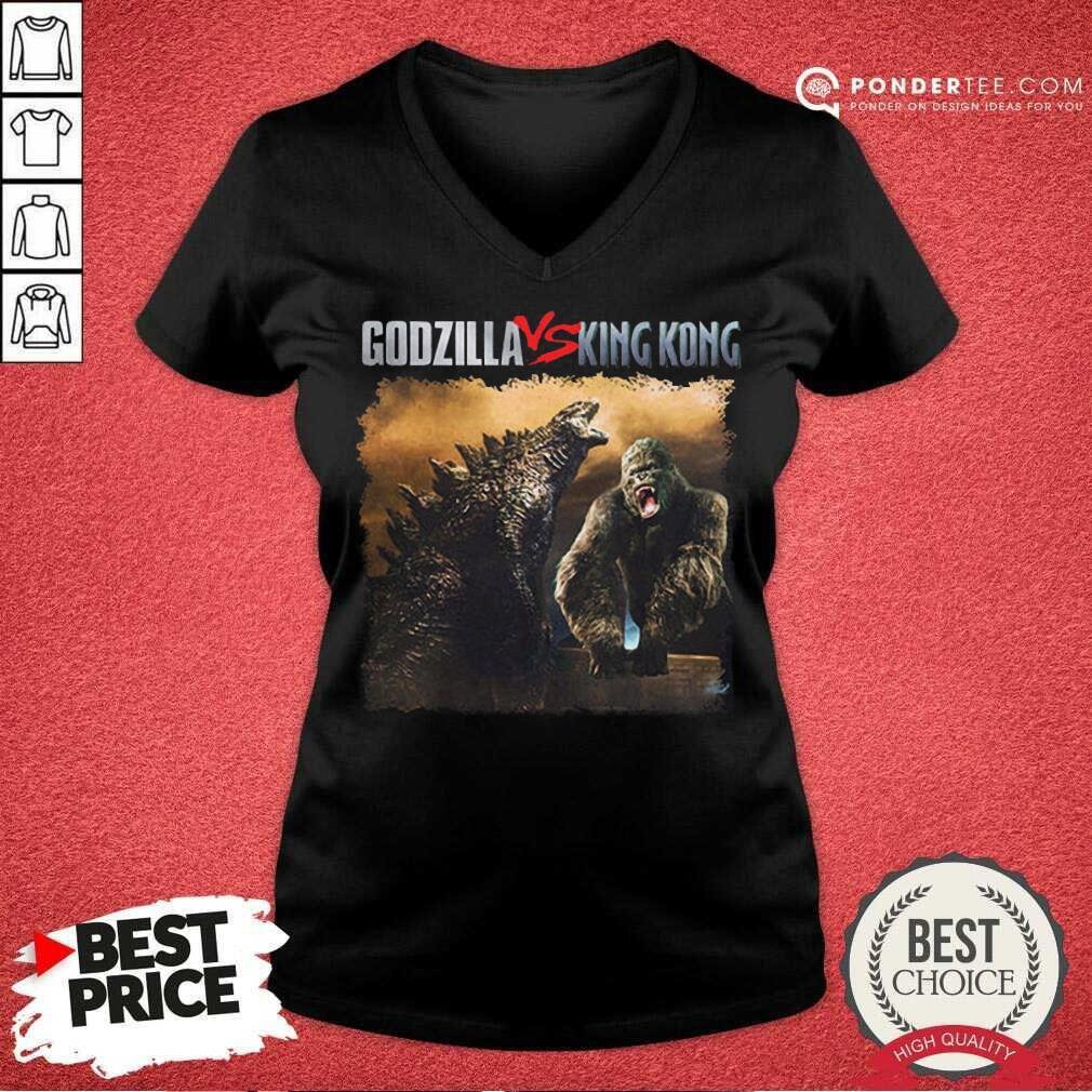 Nice Classic Godzilla Vs King Kong New Tee V-neck
