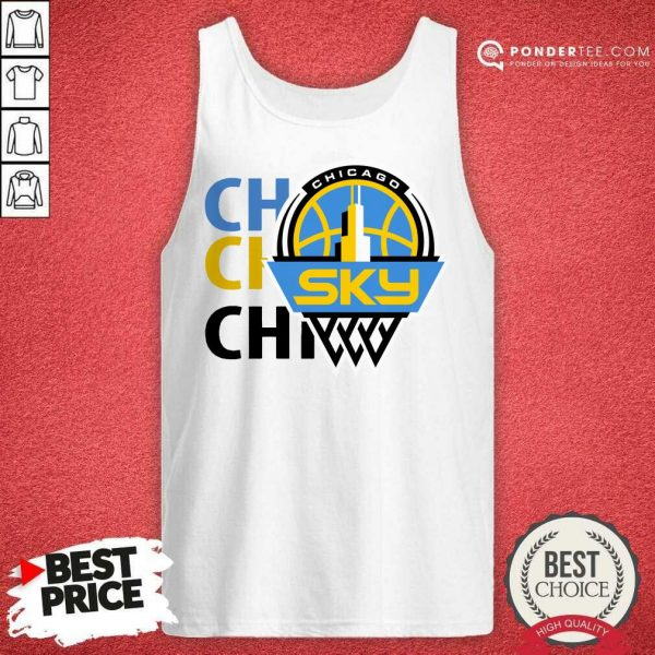 Official 2020 Chicago Sky Fanatics Branded White Tank Top