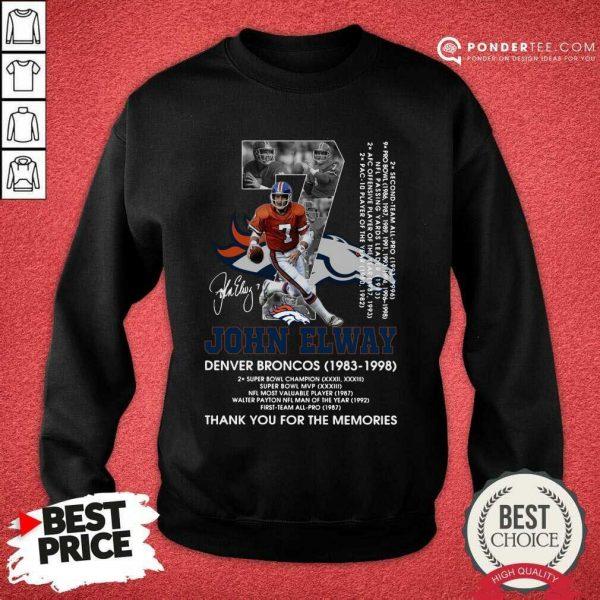 Official John Elway 1983 Sweatshirt
