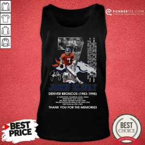 Official John Elway 1983 Tank Top