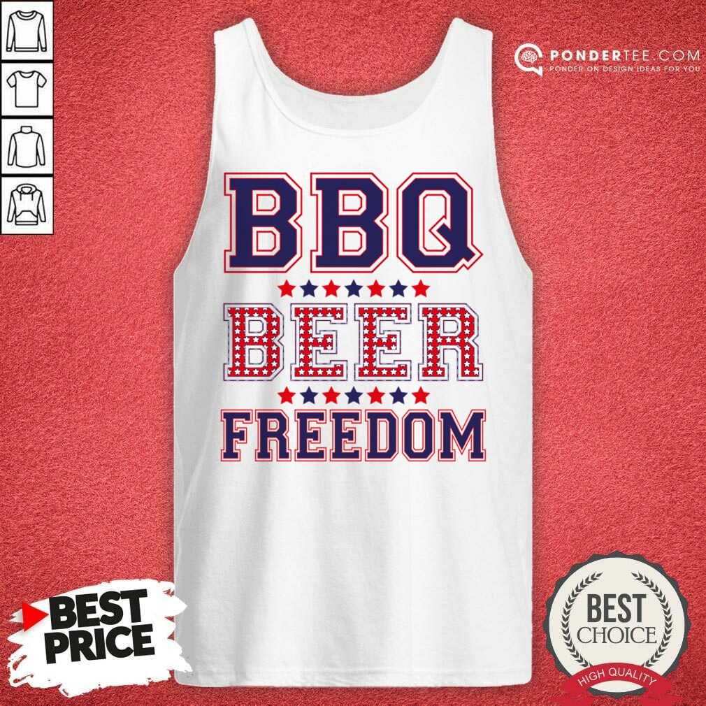 Original BBQ Beer Freedom 46 Tank Top