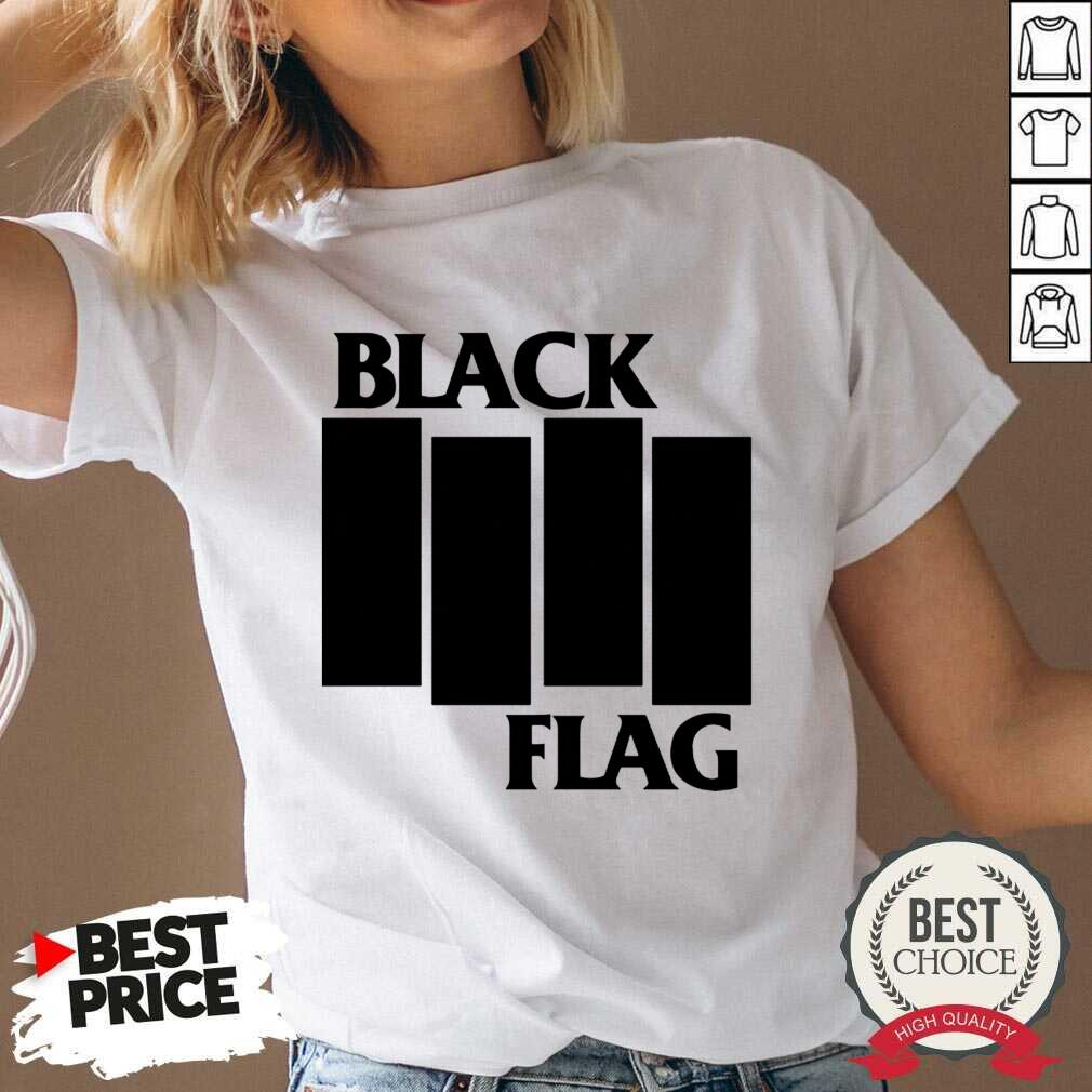 Perfect Black Flag Bars And Logos 79 V-neck