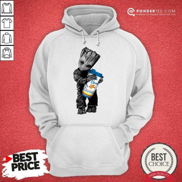 Awesome Baby Groot Hugs Dutch Bros 202 Hoodie
