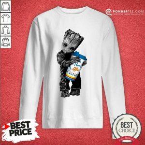 Awesome Baby Groot Hugs Dutch Bros 202 Sweatshirt