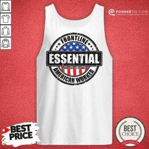 Good Frontline Essential American Worker American Flag Tank Top