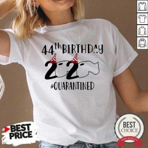 Perfect 44th Birthday 2020 Quarantined Coronavirus V-neck