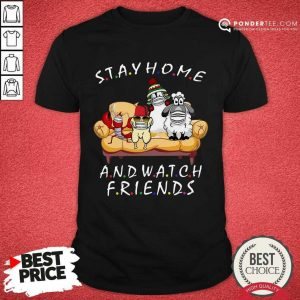 Perfect Pets Stay Home And Watch Friends Cartoon COVID-19 Shirt