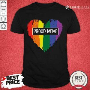 Perfect Proud MeMe Rainbow Heart Grandma LGBT Shirt