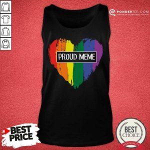 Perfect Proud MeMe Rainbow Heart Grandma LGBT Tank Top
