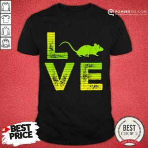 Premium I Love Mouse Mice Loving Boys And Girls 606 Shirt