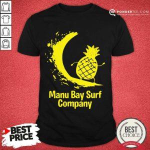 Premium Manu Bay Surf Company New Zealand Gold 5 Shirt