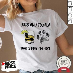 Good Dog And Wine That'S Why I'M Here V-neck