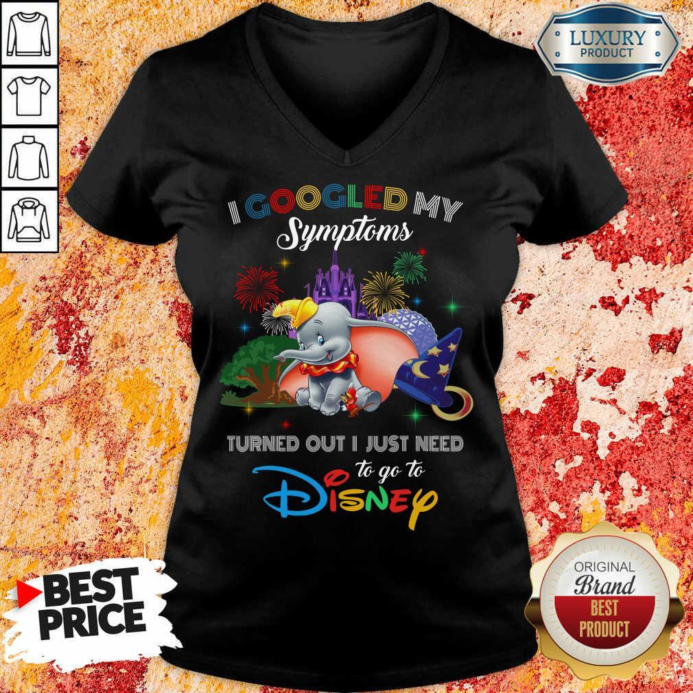 Nice Elephants I Googled My Symptoms Disney  V-neck