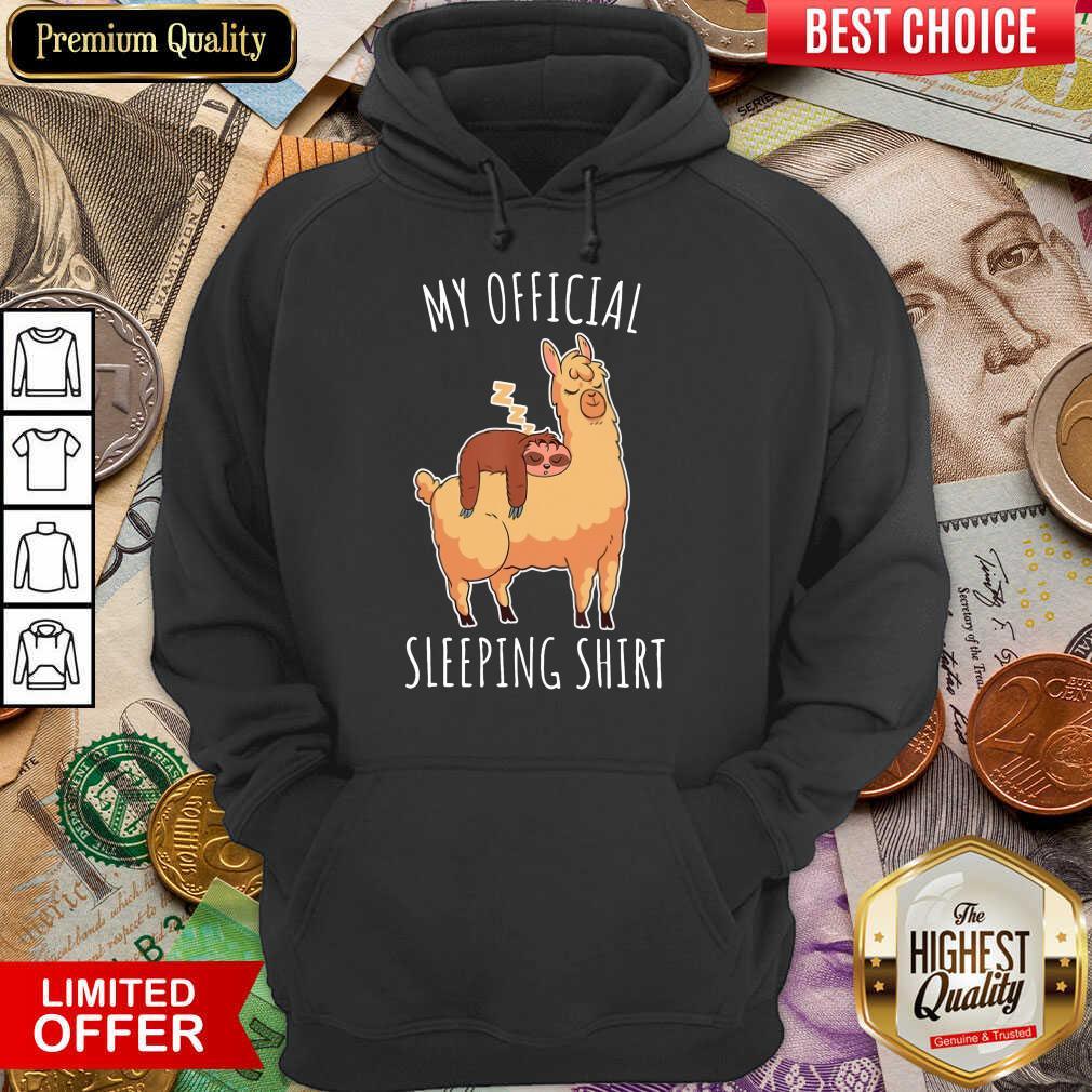 Nice Sloth And Alpaca My Official Sleeping Hoodie