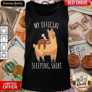 Nice Sloth And Alpaca My Official Sleeping Tank Top