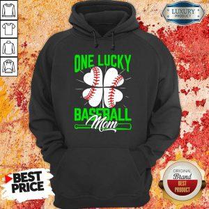 Original One Lucky Baseball Mom Hoodie