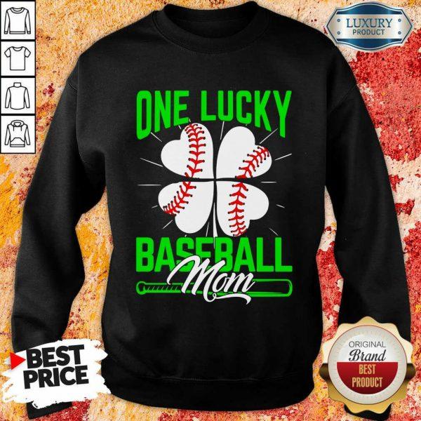 Original One Lucky Baseball Mom Sweatshirt