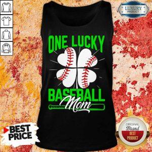 Original One Lucky Baseball Mom Tank Top