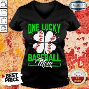 Original One Lucky Baseball Mom V-neck
