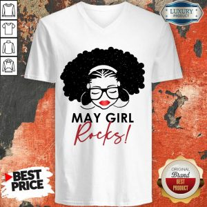 Premium May Girl Rocks V-neck