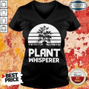 Pretty Cannabis Plant Whisperer V-neck
