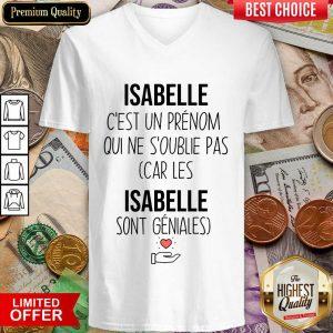 Top Isabelle C'Est Un Prenom Qui Ne S'Oublie Pas V-neck