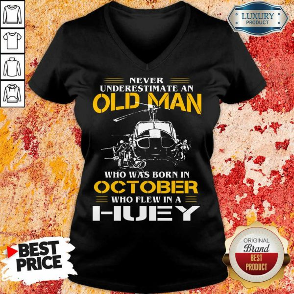 Top Old Man Who Was Born In October Huey V-neck
