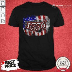 1776 Rifle American Flag Shirt