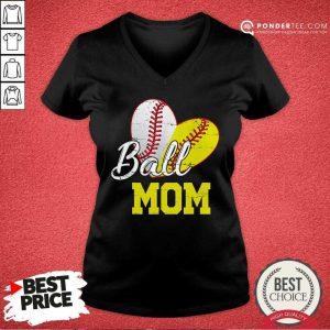 Ball Mom Softball V-neck