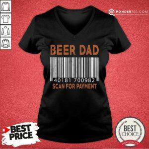 Beer Dad Scan For Payment V-neck