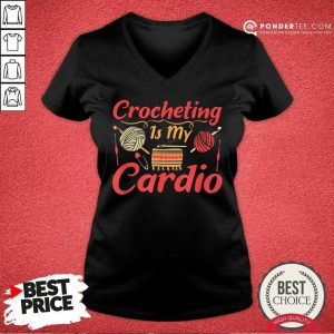 Crocheting Is My Cardio V-neck
