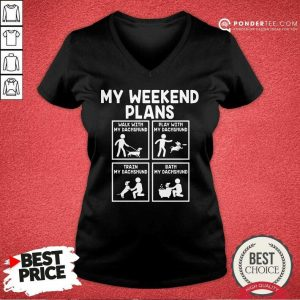 Dachshund My Weekend Plans V-neck
