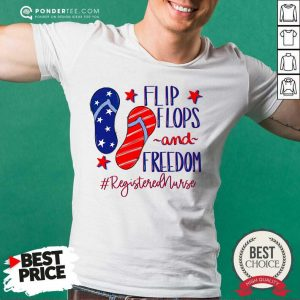 Flip Flops And Freedom Registered Nurse American Flag Shirt