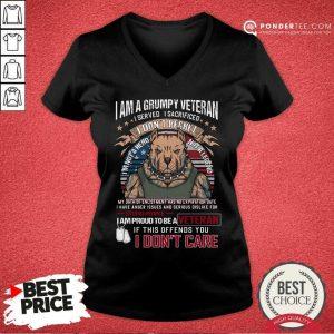 I Am Grumpy Veteran I Prond To Be A Veteran V-neck