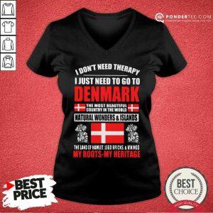 I Just Need To Go To Denmark V-neck