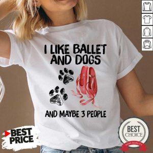 I Like Ballet And Dogs V-neck