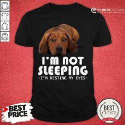 Dachshund I'm Not Sleeping I'm Resting My Eyes Shirt