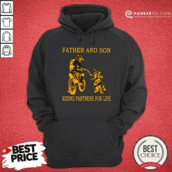 Father And Son Riding Partners For Life Hoodie