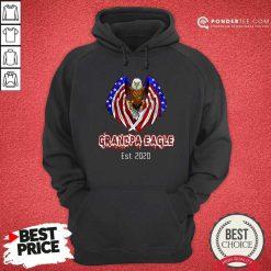 Grandpa Eagle Est. 2020 American Flag Hoodie