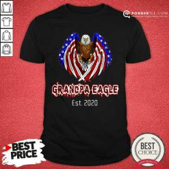 Grandpa Eagle Est. 2020 American Flag Shirt