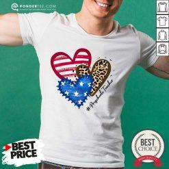 Heart American Flag Preschool Teacher Shirt